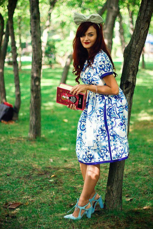 Alice in Wonderland #bluedress