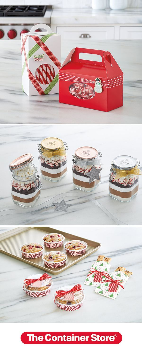 Gift wrapping ideas for home made baked goods - Homemade Happiness Starts At The Container Store From Bake And Take Baking Cups That Make Gift Giving Easy To Canning Jars That Are Ideal For Specialty Hot