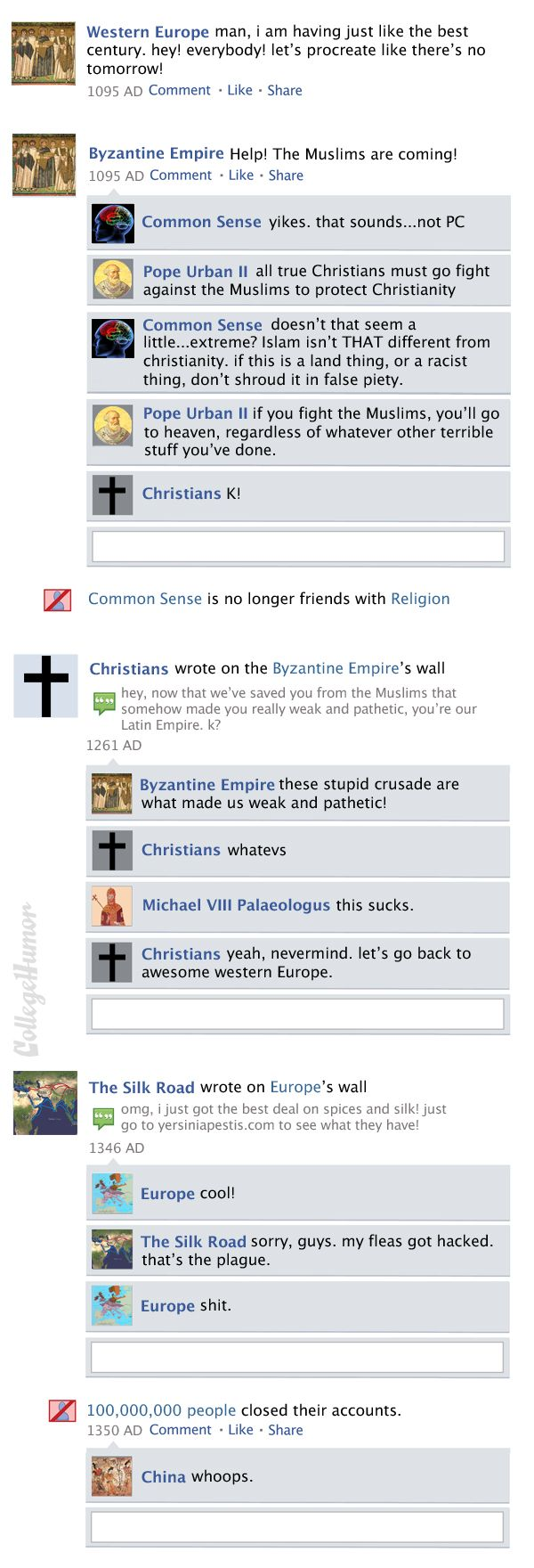 Facebook News Feed History of the World > The Crusades