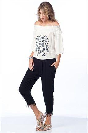 Mİ&SO - Siyah Pantolon 3101 sadece 34,99TL ile Trendyol da