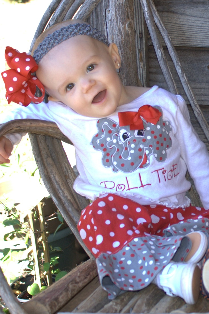 Thanks Angel!  We love our Bama outfit!