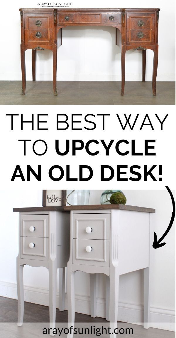 How To Upcycle A Desk Into A Pair Of Nightstands In 2020 Diy Furniture Bedroom Bedroom Night Stands Diy Furniture
