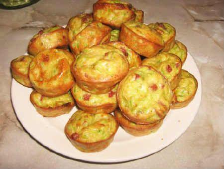 Кексы из кабачков рецепт с фото_ с творогом