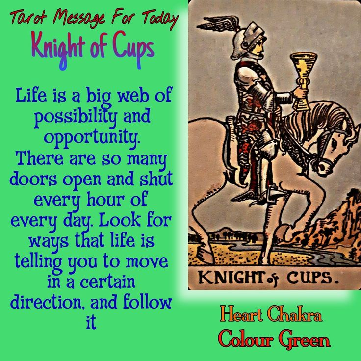 Knight of cups tarot message by sheetal gulhati in 2020