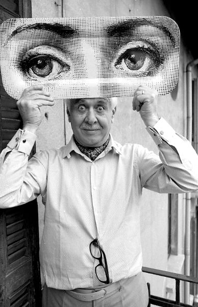 Piero Fornasetti (1913-1988) was a Milanese painter, sculptor, interior decorator, engraver of books and a creator of more than 11,000 products. The Fornasetti legacy has been secured thanks to his son, Barnaba Fornasetti, and his commitment to projects designed to articulate his father's oeuvre. The extraordinary visual language of Fornasetti is as active and strong as ever. See more on: https://nl.pinterest.com/aart4art/piero-fornasetti-designer/