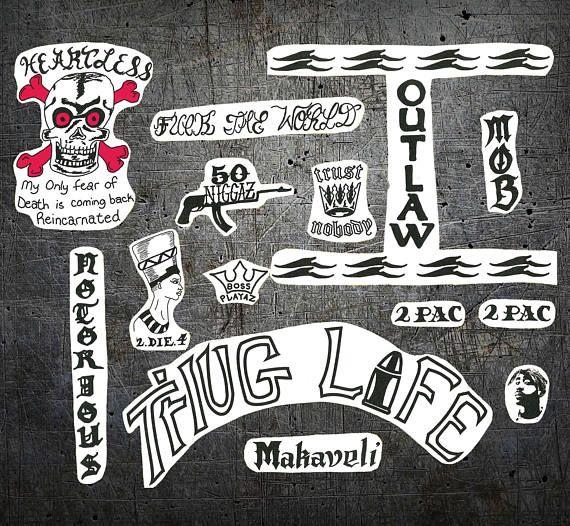 50 Niggaz Tupac vinyl decal sticker for Car//Truck Window tablet tattoo 2pac ak47