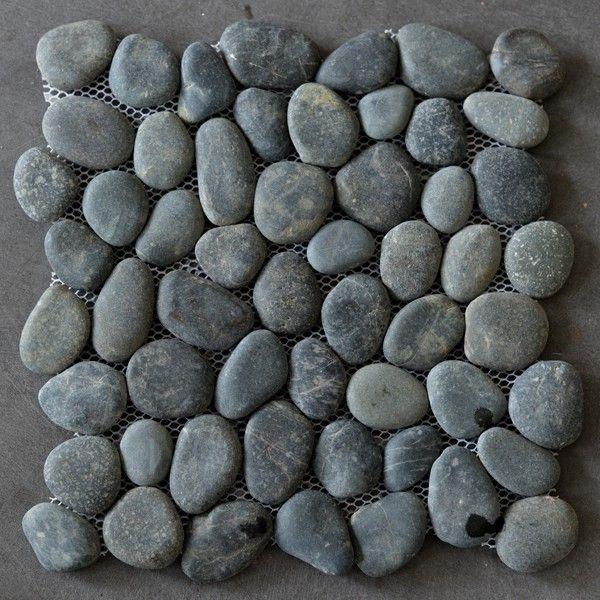 Riverstone pebble kiezelvloer donkergrijs - Pebble shop