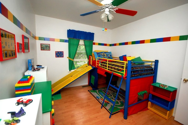 matix has this bed but without the slide and it is black he is begging me to pinterest lego room lego and room