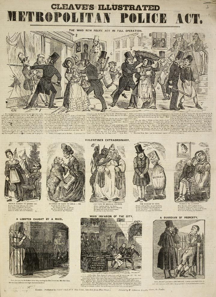 Cleaves Illustrated Metropolitan Police Act, 1839Metropolitan Police, Cleave Illustration, Illustration Metropolitan, Law Enforcement, Cleaving Illustration, Xmas Carol, 1830 1839, Police History, Vintage Image