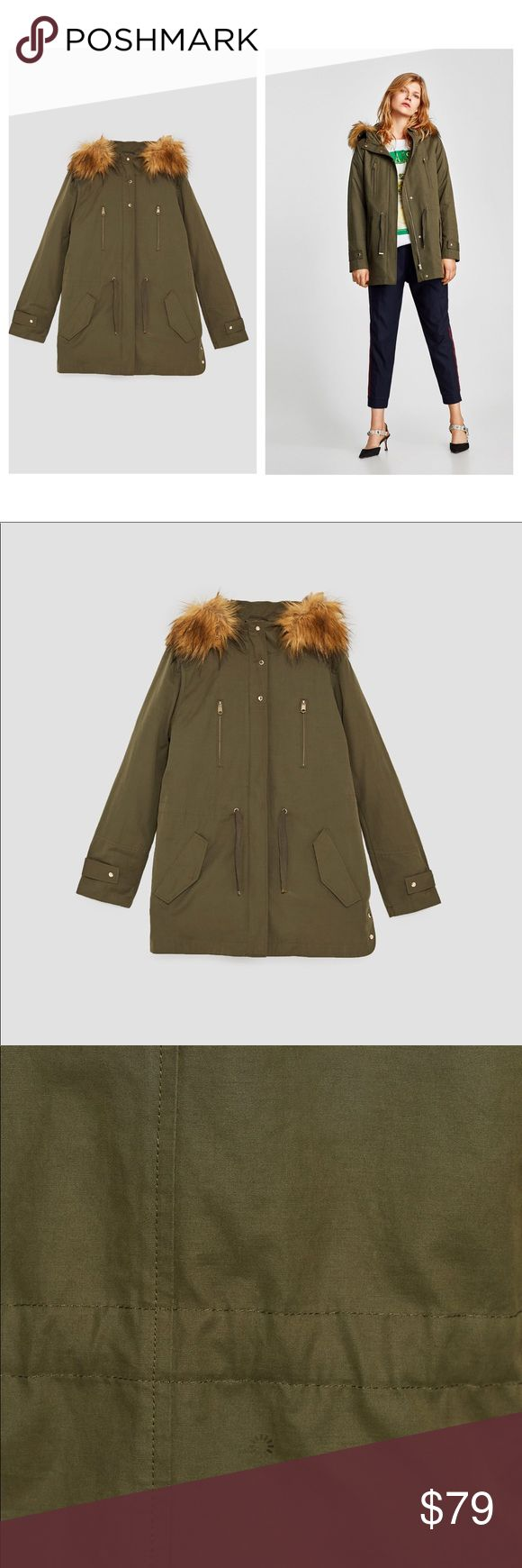 ZARA PARKA WITH TEXTURED HOOD ZARA PARKA WITH TEXTURED HOOD   New with tags Zara Jackets & Coats Utility Jackets