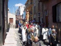 La processione di San Donato, patrono del paese