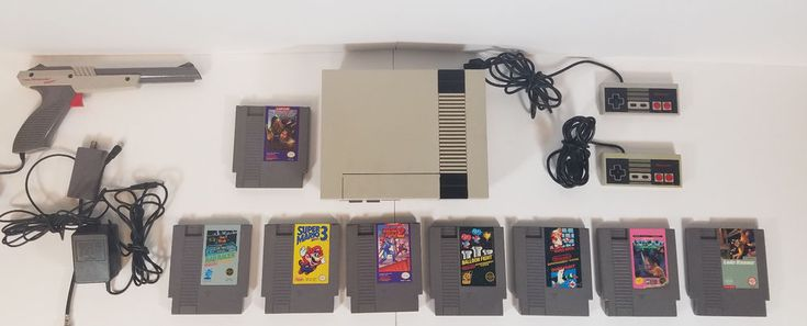 Original Nintendo Entertainment System NES with 8 Games Lot Megaman II #Nintendo