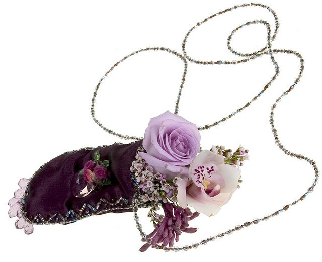Radiant Orchid Necklace Flowers to Wear by Flower Factor, via Flickr