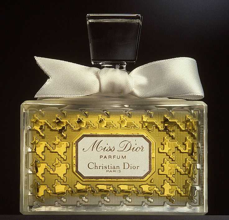 Miss Dior by Christian Dior, in the famous houndstooth bottle, introduced in 1947.