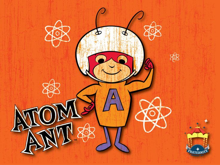 Maziu's absent artwork: The Atom Ant: behind the costume.        atom ant