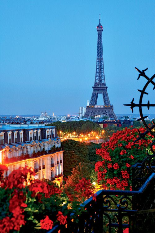 A Summer Night in Paris, France