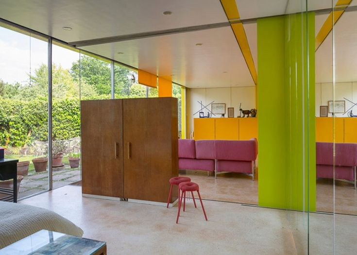 Rogers House by Richard Rogers goes on sale for the first time 1968 London Fantastic Colour blocking