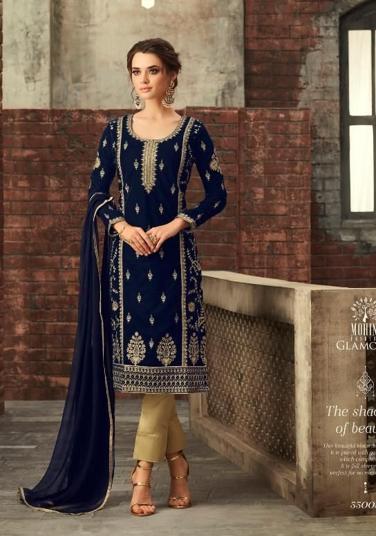 4fabda8203 Mohini Fashion Designer Pure Velvet Salwar Suit in 2019 | Dresses ...