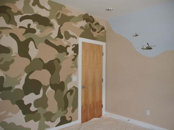 Military themed kids room house pinterest kid for Army themed bedroom ideas