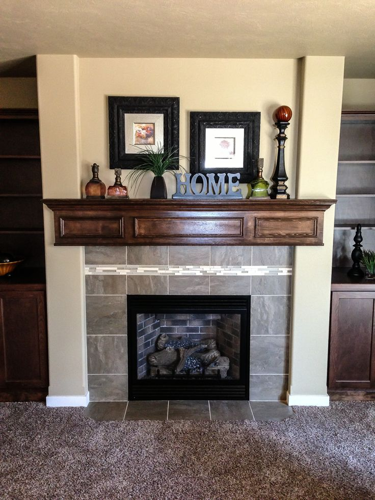 Fireplace with heavy wood mantel 35 best