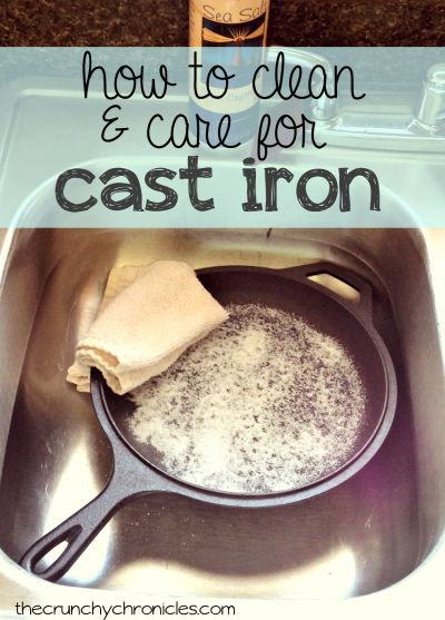 How to clean and care for cast iron cookware - it's easier than you might think!