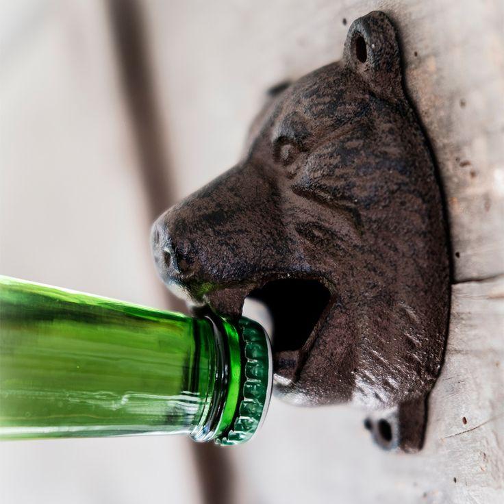 MEN'S SOCIETY BEAR HEAD BOTTLE OPENER | Gift for Men | Gifts for Him | Beer Gifts | Stocking Filler | Bear