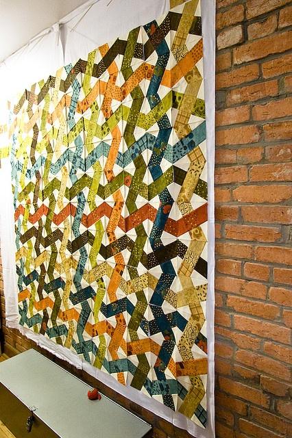 x-block quilt - cool twist!