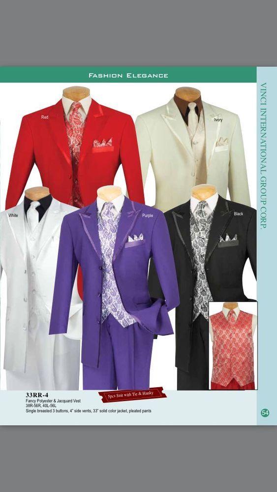 Vinci Mens suits  5 Piece Fancy Suit 33RR-4 #Pallini #ThreeButton