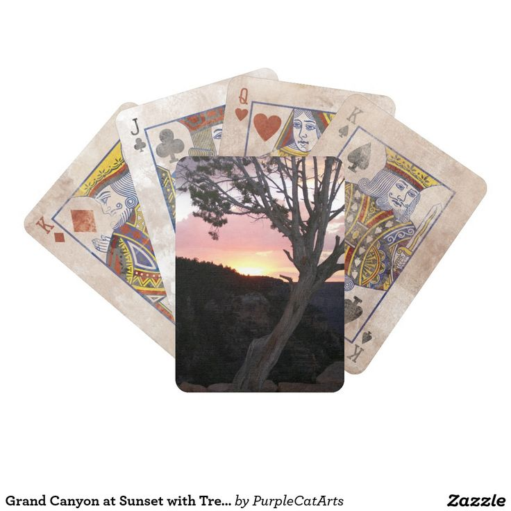 Grand Canyon at Sunset Bicycle Playing Cards. Shown here with the distressed look of the old west. Go ahead, make your play! #pokernight #playingcards
