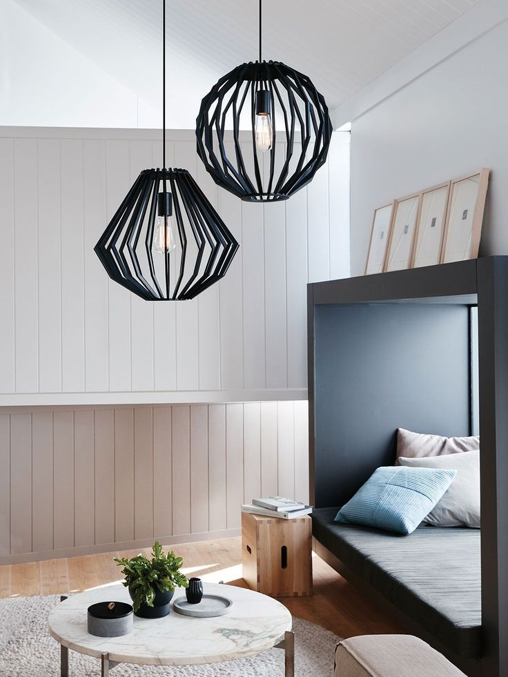 Walderik Large Squat Pendant in Black | Modern Pendants | Pendant Lights | Lighting