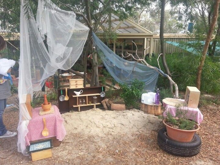 Outdoor mud pie kitchen-----Journey into Play