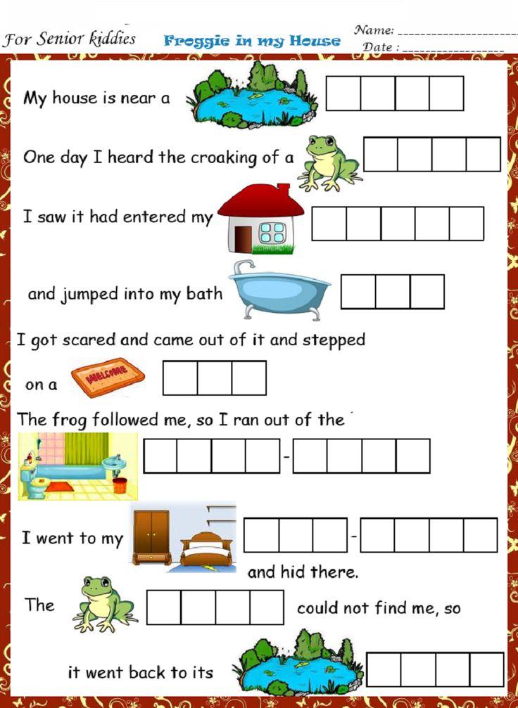 Fun English Worksheet English worksheets for kids, 1st