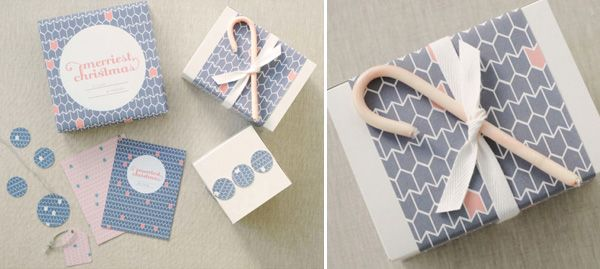 Merriest Christmas patterned paper and gift tags by Shim Tokk.