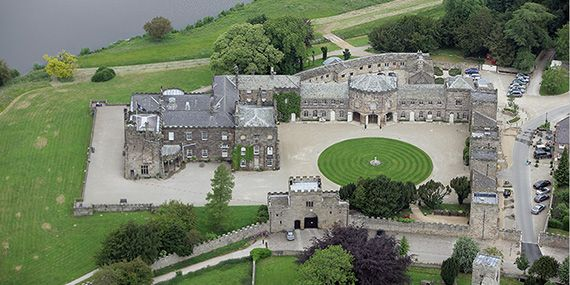 Aerial view of Ripley Castle