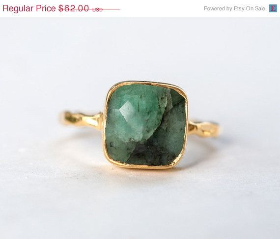 Hey, I found this really awesome Etsy listing at https://www.etsy.com/listing/199858756/40-off-sale-raw-emerald-ring-may