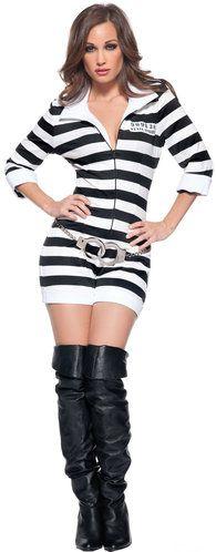 Sexy Jail Bird Convict Costume