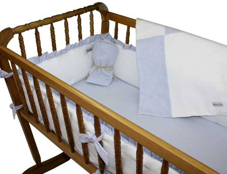 Pique Gingham Cradle Bedding Set