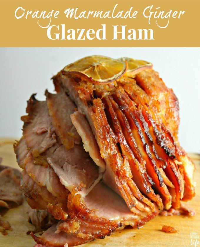 Mom's beautifully caramelized ham with a delicious Orange Marmalade Ginger Ham Glaze for Easter, Christmas, or even Sunday Supper. Everyone raves about this ham glaze...seriously THE BEST ham glaze recipe!