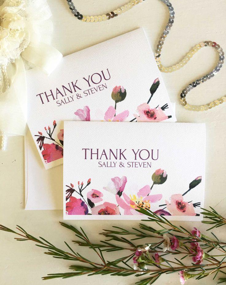 Personalised Thank You Cards - Custom Thank You Cards - Wedding Thank You Template - Thank You Cards - Thank You Cards Wedding - Thank You by CocoPressDesigns on Etsy https://www.etsy.com/au/listing/476940444/personalised-thank-you-cards-custom
