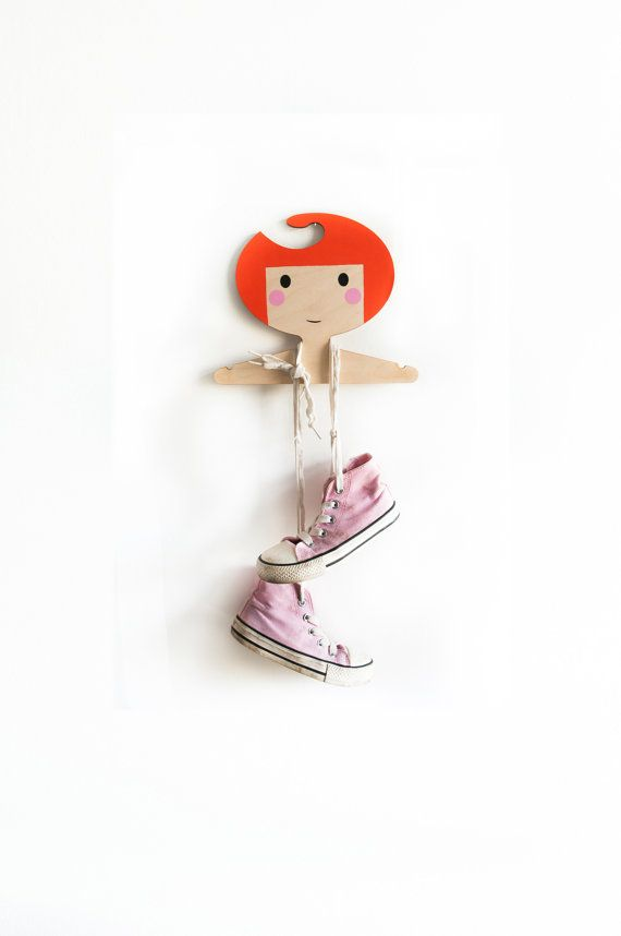 Childrens wooden clothes/coat hanger/wall decor  by RedHandGang, £12.50