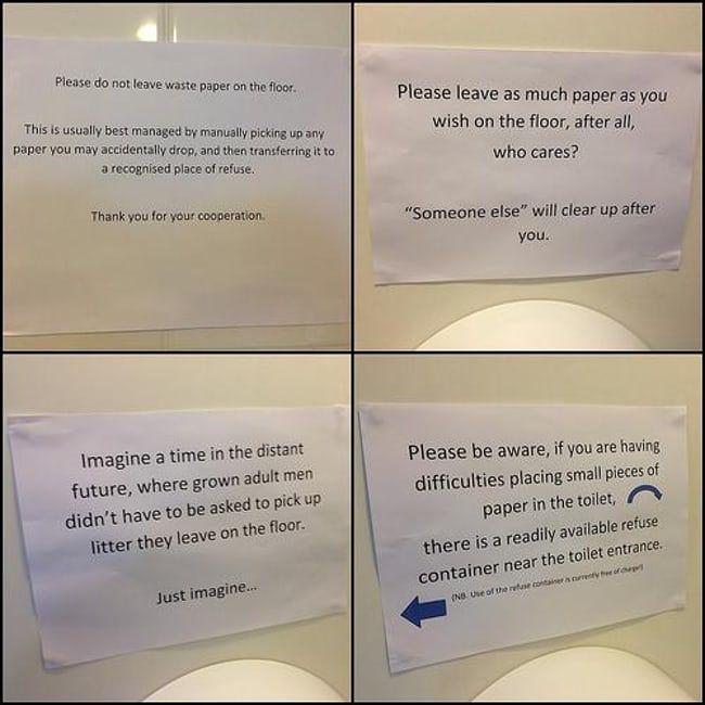 The Best Passive Aggressive Bathroom Notes Passive Aggressive Thanking Someone Aggressive