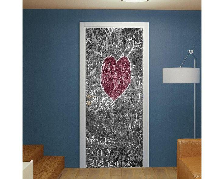 Heart chalkboard,αυτοκόλλητο πόρτας , δείτε το!