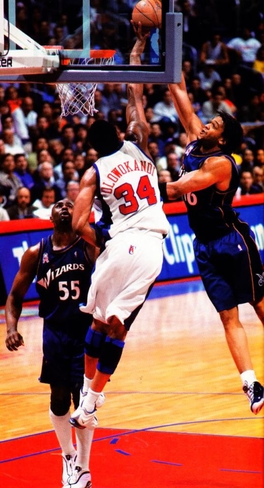 Michael Olowokandi Los Angeles Clippers Etan Thomas Jahidi White Washington Wizards