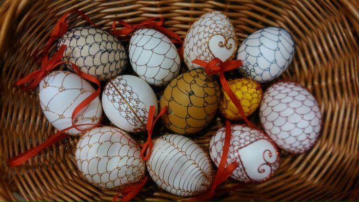 Drátované velikonoce, vajíčka.