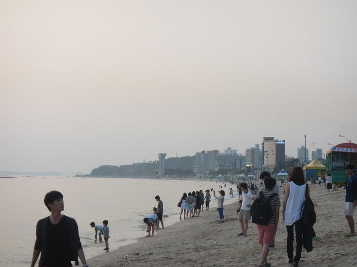 """Daecheon Beach in South Korea.  Don't expect """"white sands"""" and """"crystal"""" blue water.  It is a good beach to go to if you live near it.  I live about an hour away, so it's a great day trip to take with you friends.  There is also a mud festival held near this beach every year that is worth going to. Korean women usually do not wear swimsuits to the beach."""