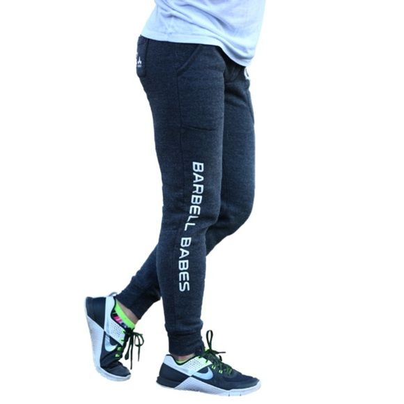 6 LEFT  Barbell Babes Charcoal Fleece Joggers M Barbell Babes Fleece Joggers in Charcoal. Runs small, we suggest going up one size. Natural piling occurs in this fabric, especially in areas of friction, like the inner thighs. PRICE FIRM but applies to bundle listings.  No trades. No holds.  Fast shipping! Barbell Babes Pants Track Pants & Joggers