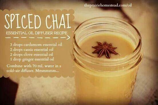 Spiced Chai Eo Diffuser Recipe Doterra Living