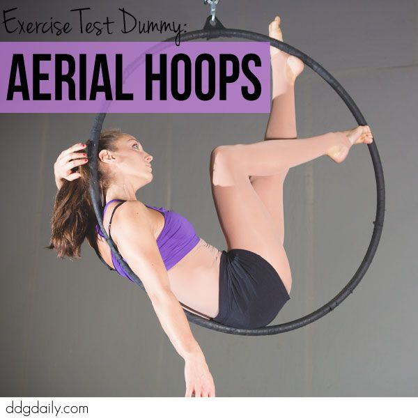 Exercise test dummy: Aerial Hoops at Pole Divas