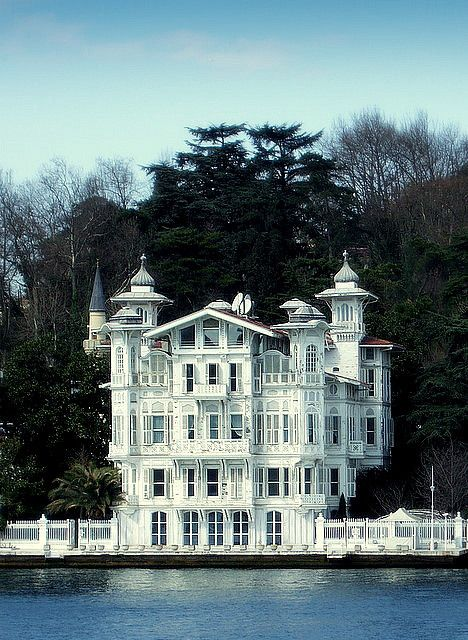 "This is a 'rüya gibi yalı' (dream waterfront mansion) in Bebek, Istanbul, Turkey. A ""yalı""-- which literally means 'seashore, beach'--is a house or mansion constructed at immediate waterside and usually built with an architectural concept that takes into account the characteristics of the coastal location."