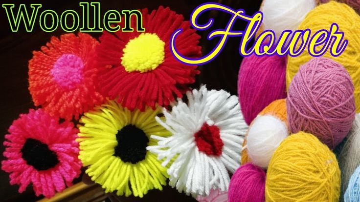 Woolen Flower Latest and Easy Design Craft Idea LifeStyle Designs - YouTube